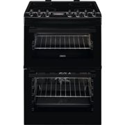 Zanussi ZCV69350BA 60cm Electric Cooker with Ceramic Hob - Black - A/A Rated