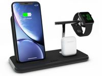 Zens Aluminium Wireless Qi Charger 20W with Aluminium Stand for Apple Watch Series, APPLE AIRPODS - BLACK - ZEDC07B00
