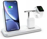 Zens Aluminium Wireless Qi Charger 20W with Aluminium Stand for Apple Watch Series, APPLE AIRPODS - WHITE - ZEDC07W00